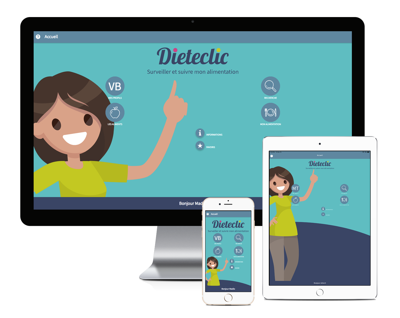 Dieteclic, application hybride